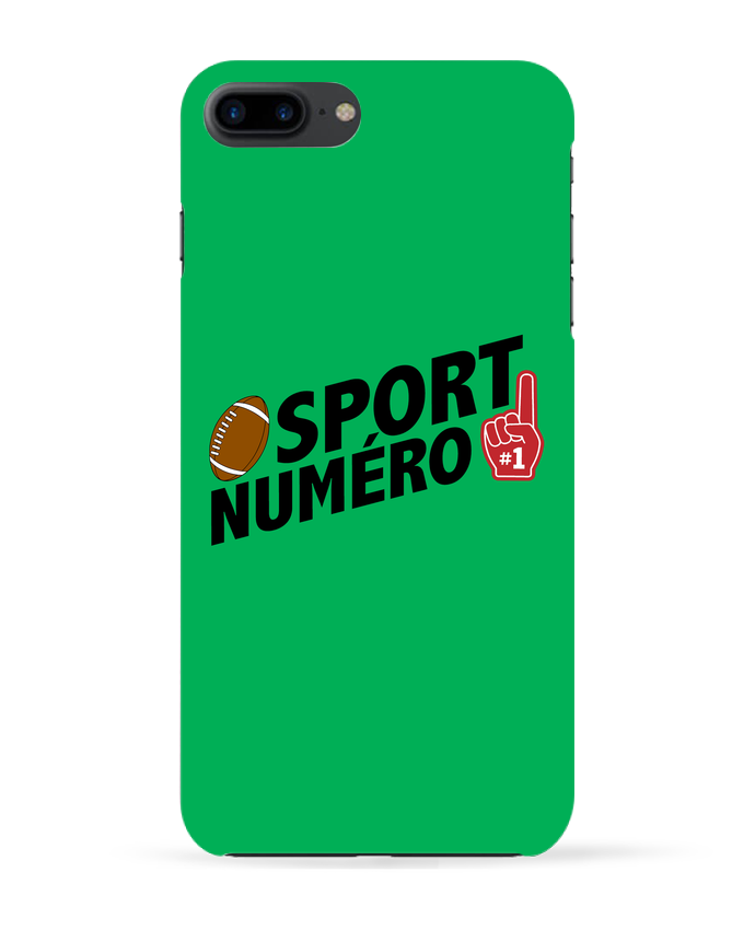 Coque 3D Iphone 7+ Sport numéro 1 Rugby par tunetoo