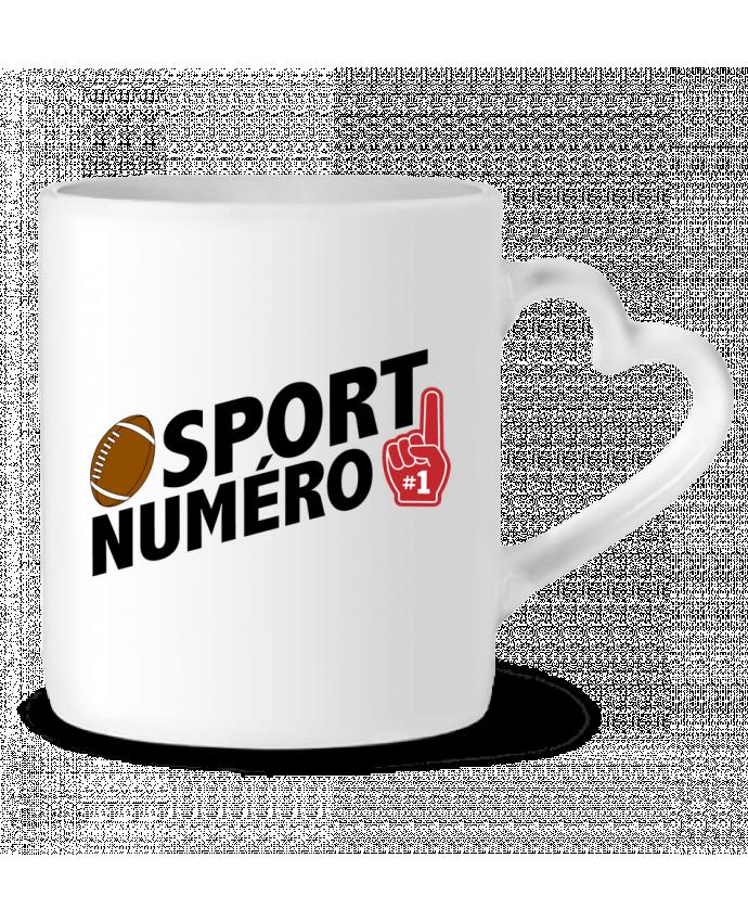 Mug Coeur Sport numéro 1 Rugby par tunetoo