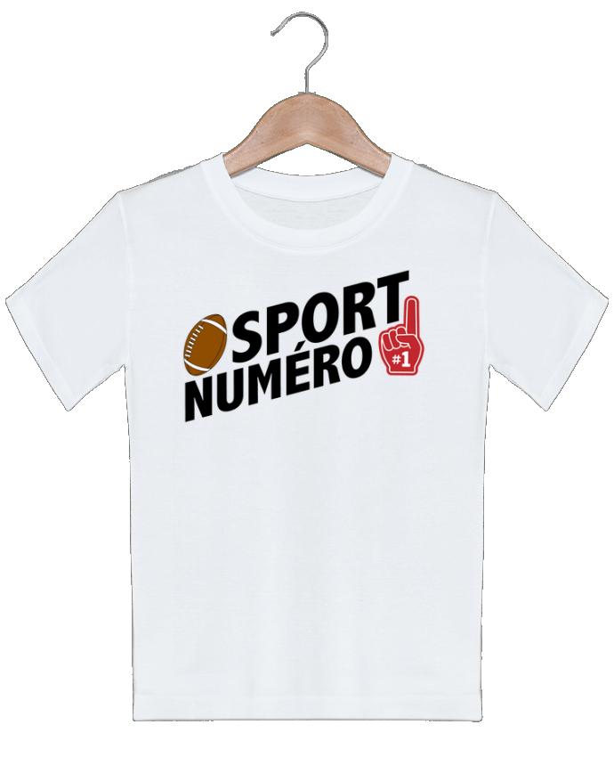 T-shirt garçon motif Sport numéro 1 Rugby tunetoo