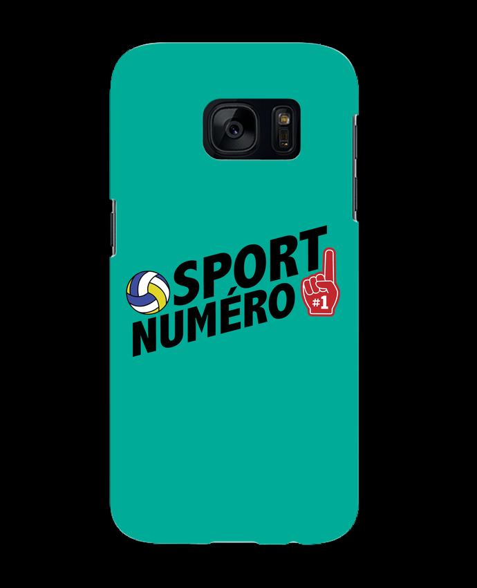 Coque 3D Samsung Galaxy S7 Sport numéro 1 Volley par tunetoo