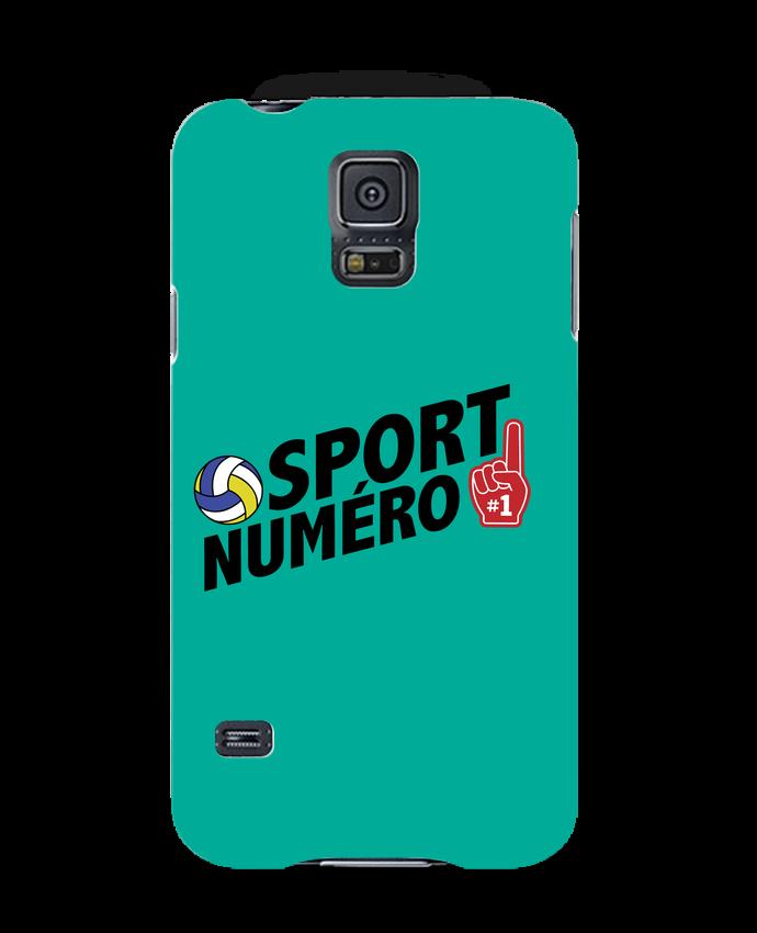 Coque 3D Samsung Galaxy S5 Sport numéro 1 Volley par tunetoo