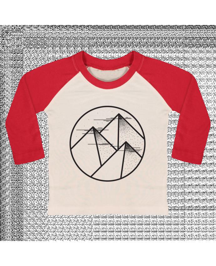 T-shirt Bébé Baseball Manches Longues montagne - graphique par /wait-design