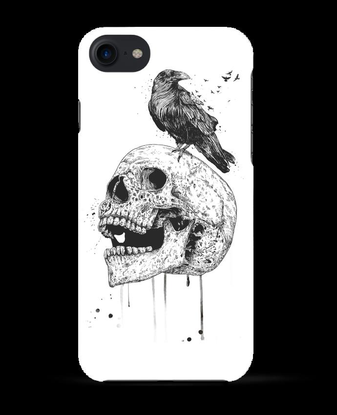 Coque 3D Iphone 7 New skull (bw) de Balàzs Solti