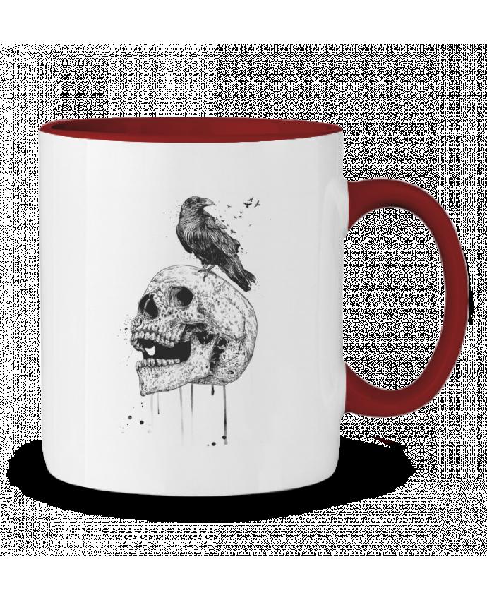 Mug en Céramique Bicolore New skull (bw) Balàzs Solti