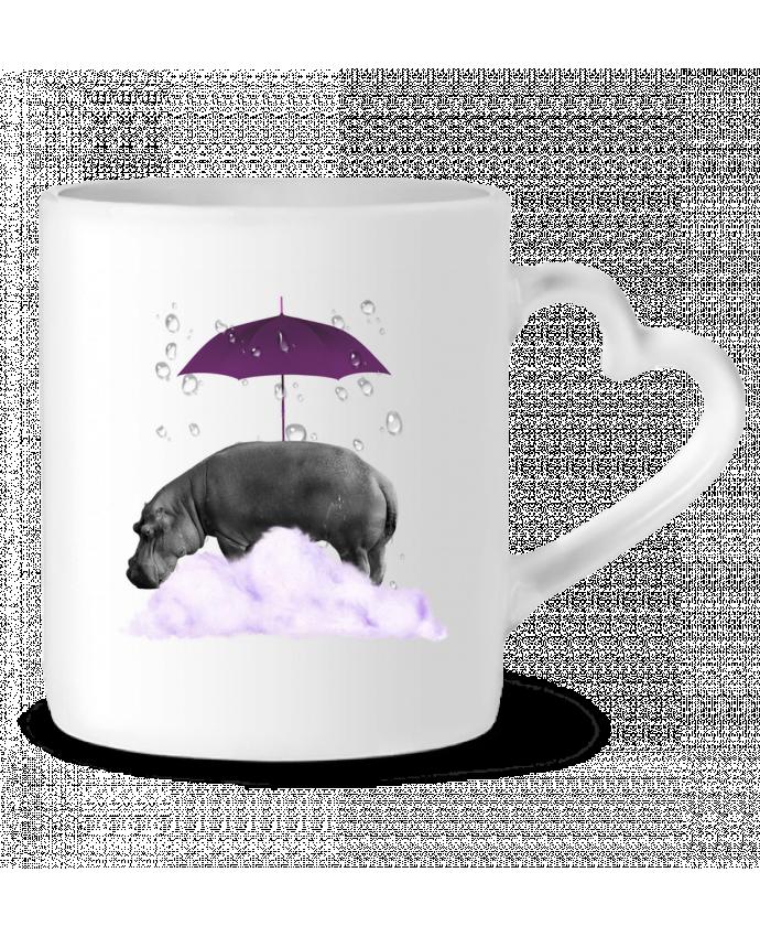 Mug Coeur hippopotame par popysworld