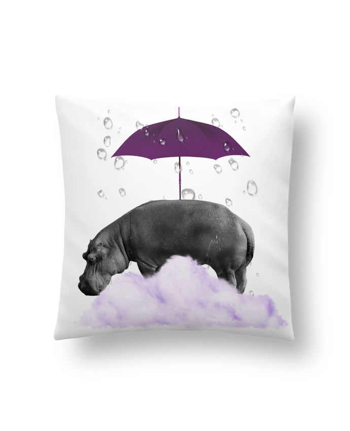 Coussin Synthétique Doux 41 x 41 cm hippopotame par popysworld