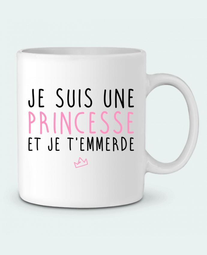 Mug en Céramique Je suis une princesse et je t'emmerde par LPMDL