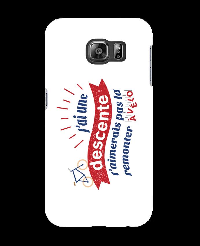 Coque 3D Samsung Galaxy S6 J'ai une descente t'aimerais pas la remonter à vélo - tunetoo