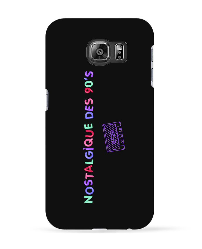 Coque 3D Samsung Galaxy S6 Nostalgique 90s Cassette - tunetoo