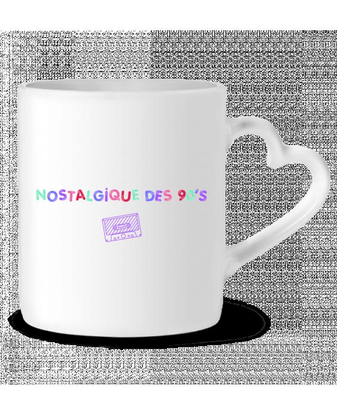 Mug Coeur Nostalgique 90s Cassette par tunetoo