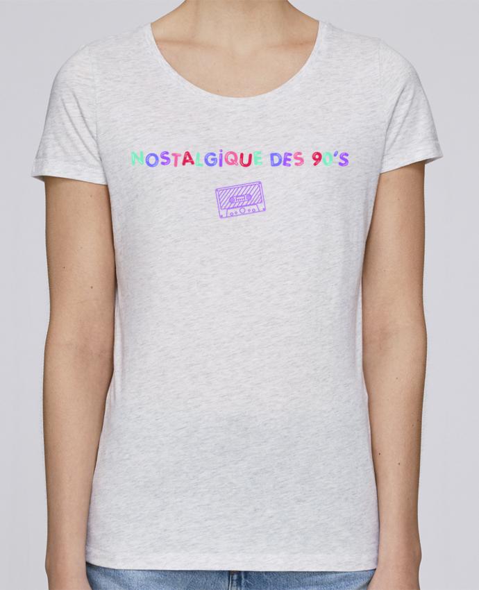 T-shirt Femme Stella Loves Nostalgique 90s Cassette par tunetoo