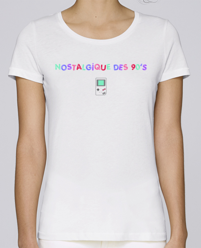T-shirt Femme Stella Loves Nostalgique 90s Gameboy par tunetoo