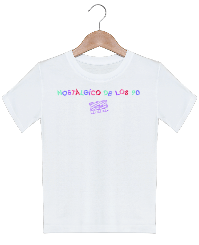 T-shirt garçon motif Nostálgico de los 90 Casete tunetoo