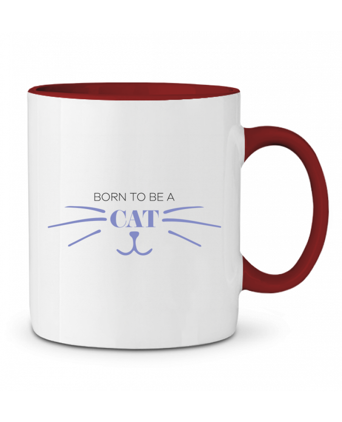 Mug en Céramique Bicolore Born to be a cat tunetoo
