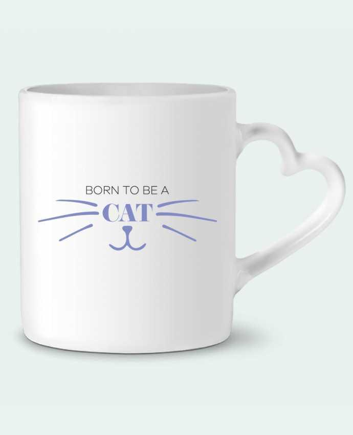 Mug Coeur Born to be a cat par tunetoo