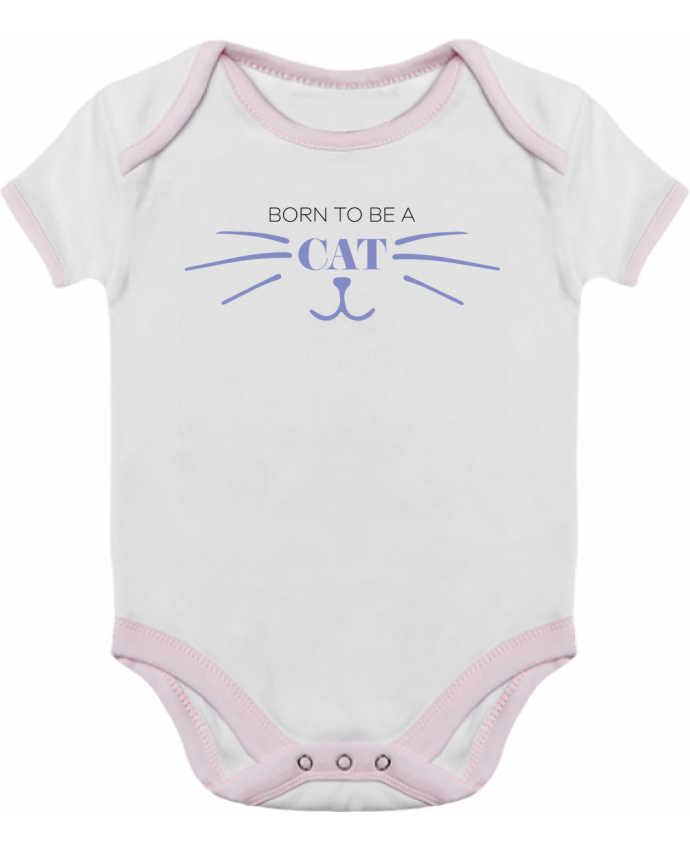Body Bébé Contrasté Born to be a cat par tunetoo