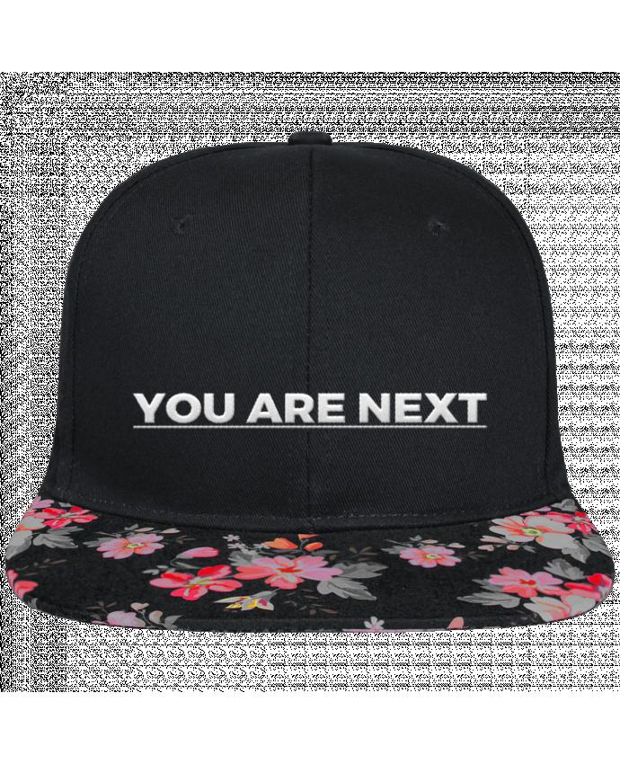 Casquette SnapBack Visière Graphique Noir Floral You are next brodé et visière à motifs 100% polyester et toile coton
