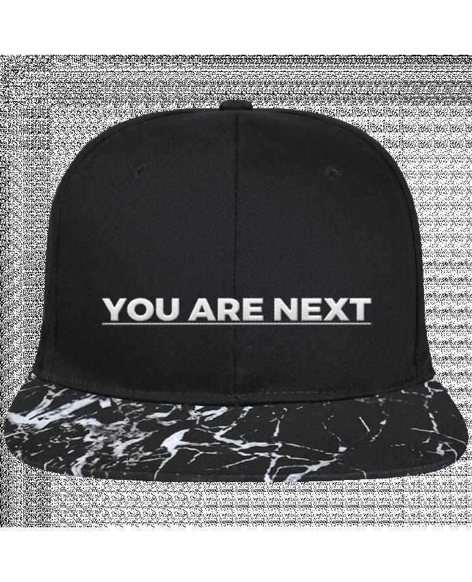 Casquette SnapBack Visière Graphique Noir Minéral You are next brodé avec toile noire 100% coton et visière imprimée m