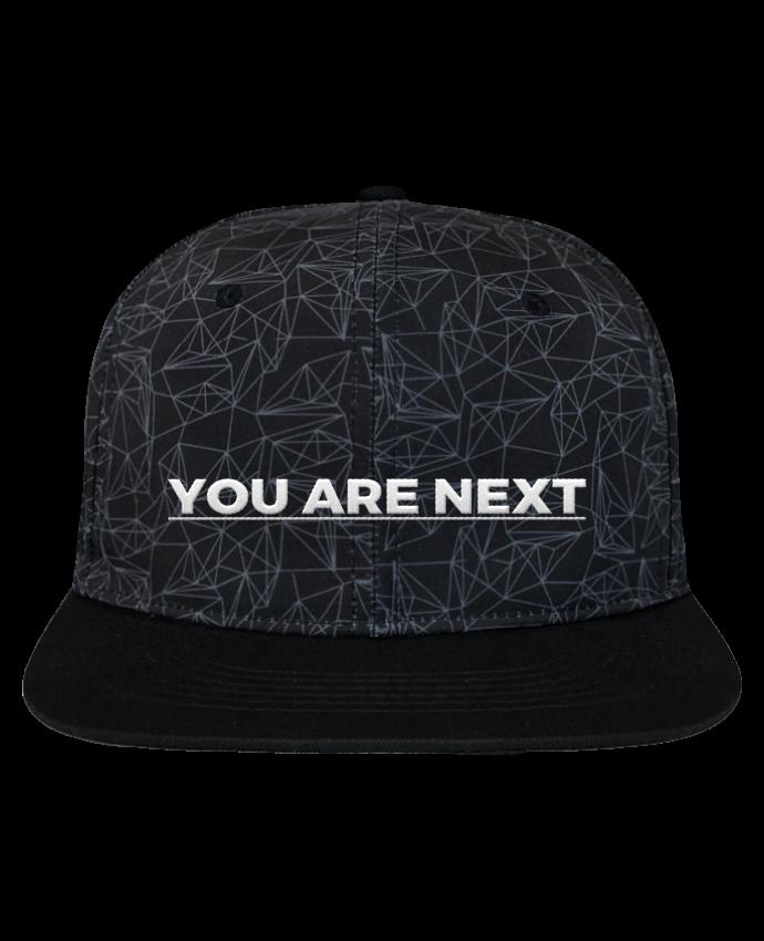 Casquette SnapBack Couronne Graphique Géométrique You are next brodé avec toile imprimée et visière noire