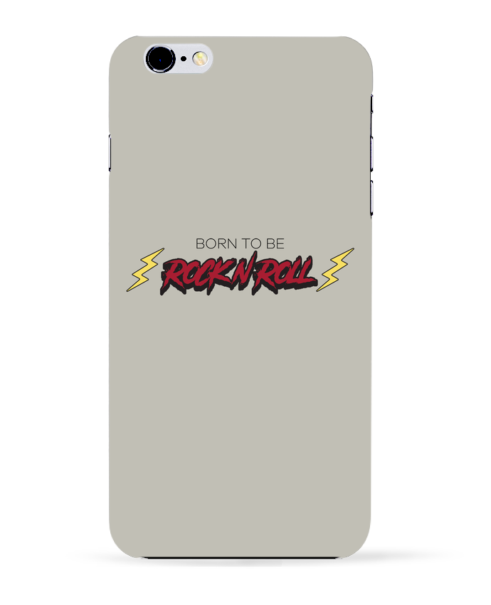 Coque 3D Iphone 6+ Born to be rock n roll de tunetoo