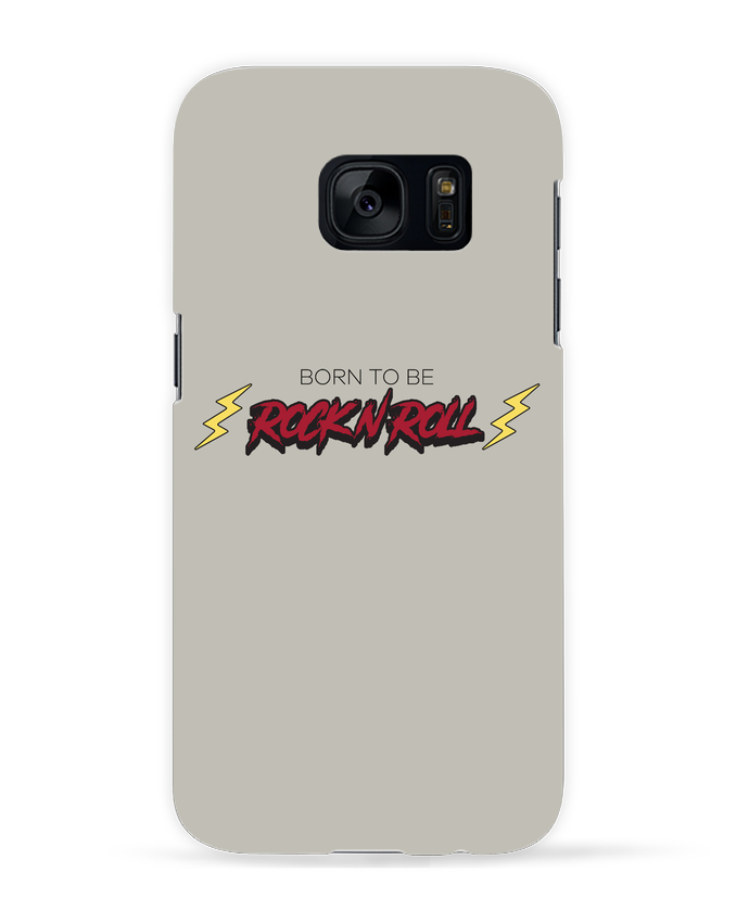 Coque 3D Samsung Galaxy S7 Born to be rock n roll par tunetoo