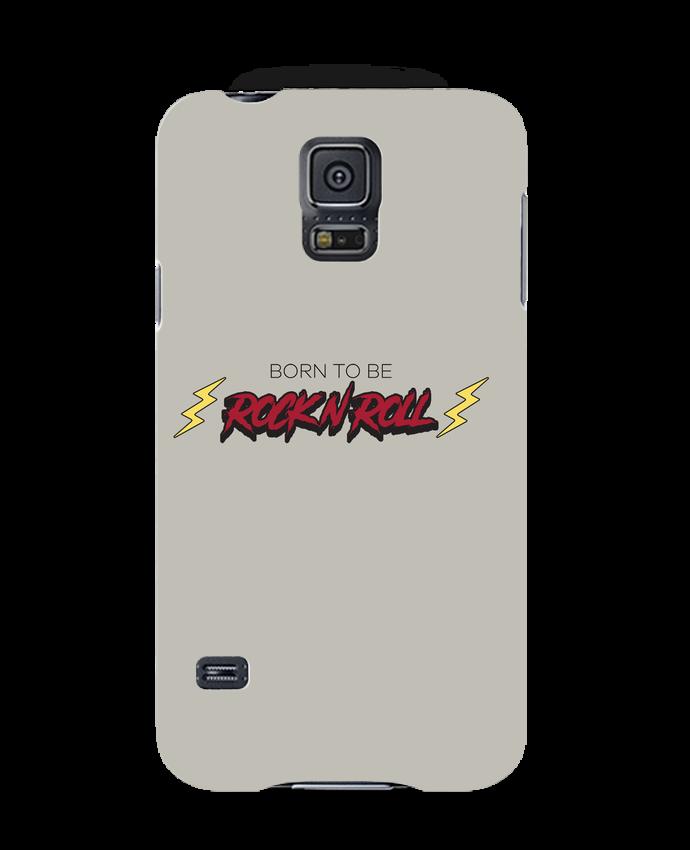 Coque 3D Samsung Galaxy S5 Born to be rock n roll par tunetoo