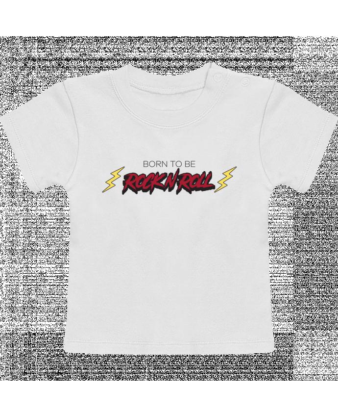 T-Shirt Bébé Manches Courtes Born to be rock n roll manches courtes du designer tunetoo