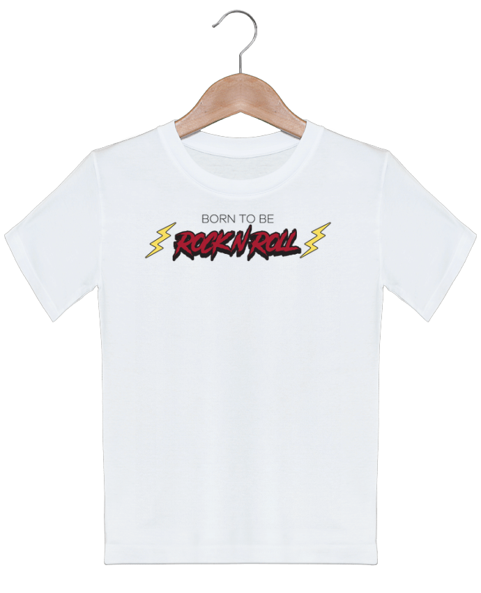 T-shirt garçon motif Born to be rock n roll tunetoo