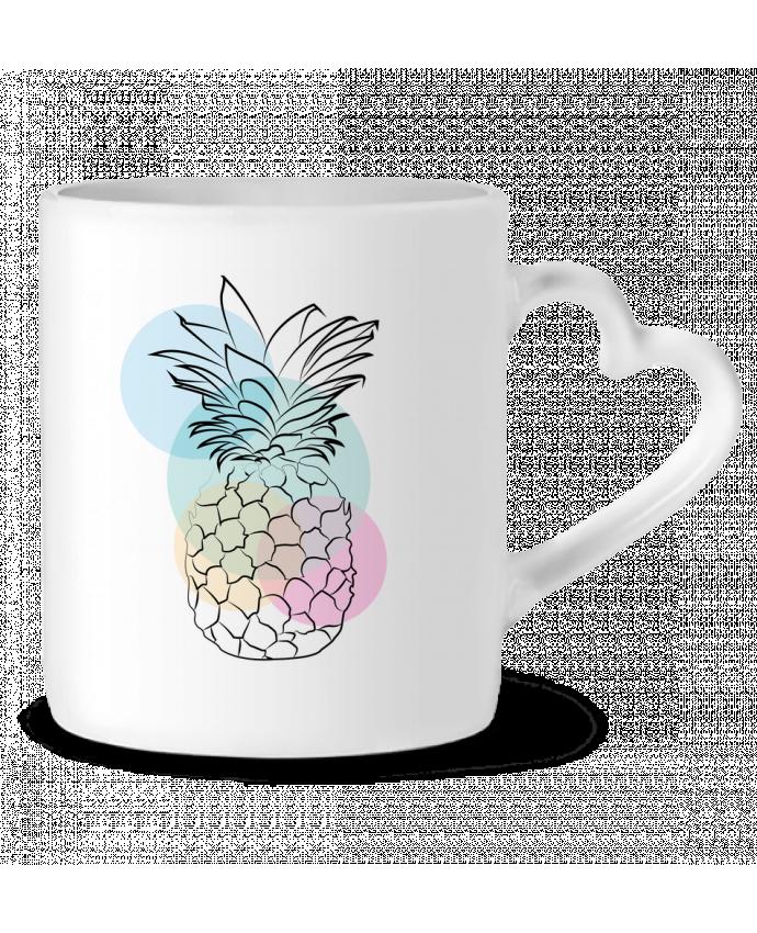 Mug Coeur Petit'anana par Nina