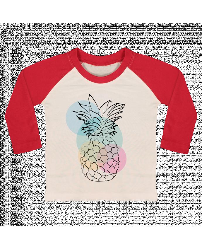 T-shirt Bébé Baseball Manches Longues Petit'anana par Nina