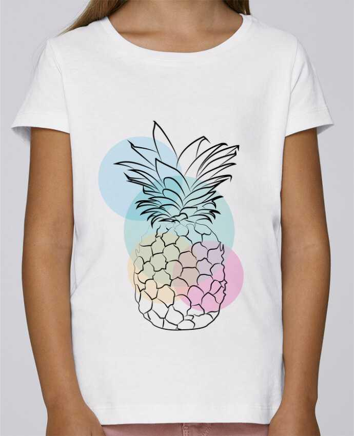T-shirt Fille Mini Stella Draws Petit'anana par Nina