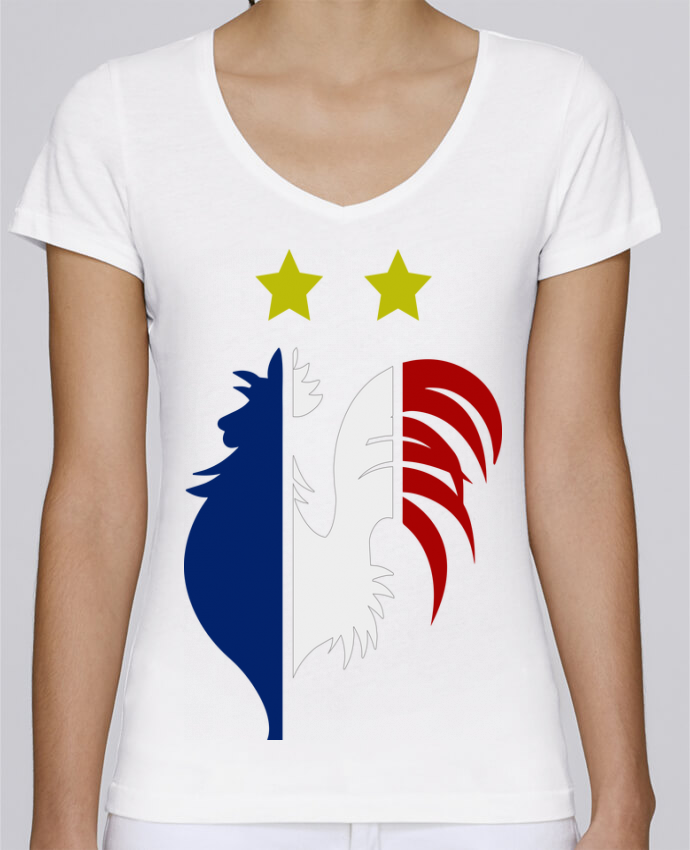 T-shirt Femme Col V Stella Chooses Champion du monde 2018 ! par AkenGraphics