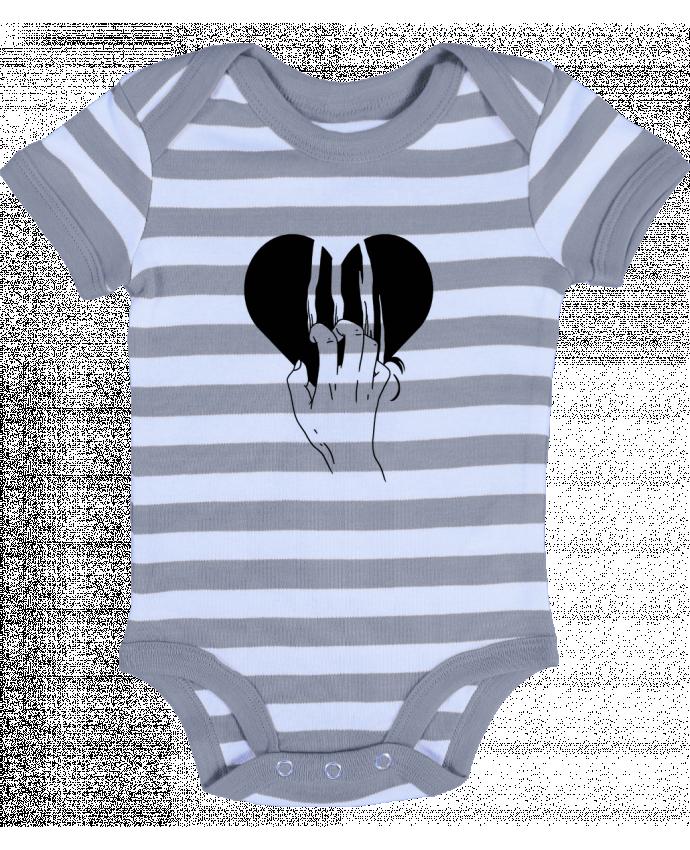 Body Bébé à Rayures Coeur - tattooanshort