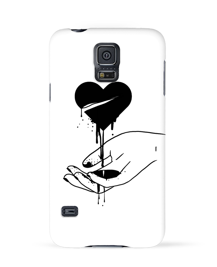 Coque 3D Samsung Galaxy S5 COeur qui coule par tattooanshort