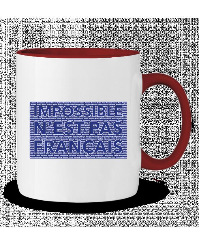 Mug en Céramique Bicolore Impossible n'est pas français tunetoo