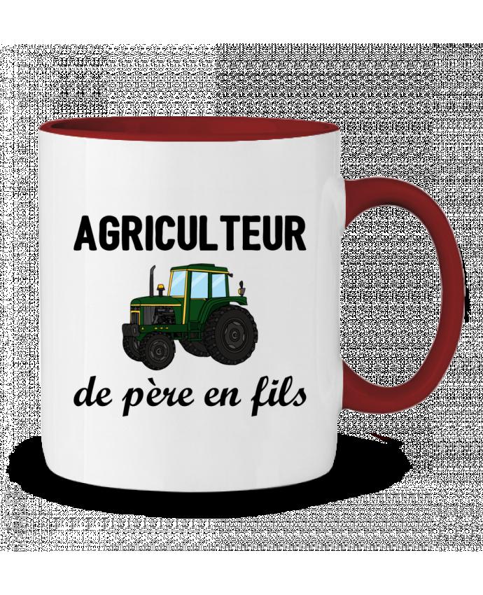 Mug en Céramique Bicolore Agriculteur de père en fils tunetoo