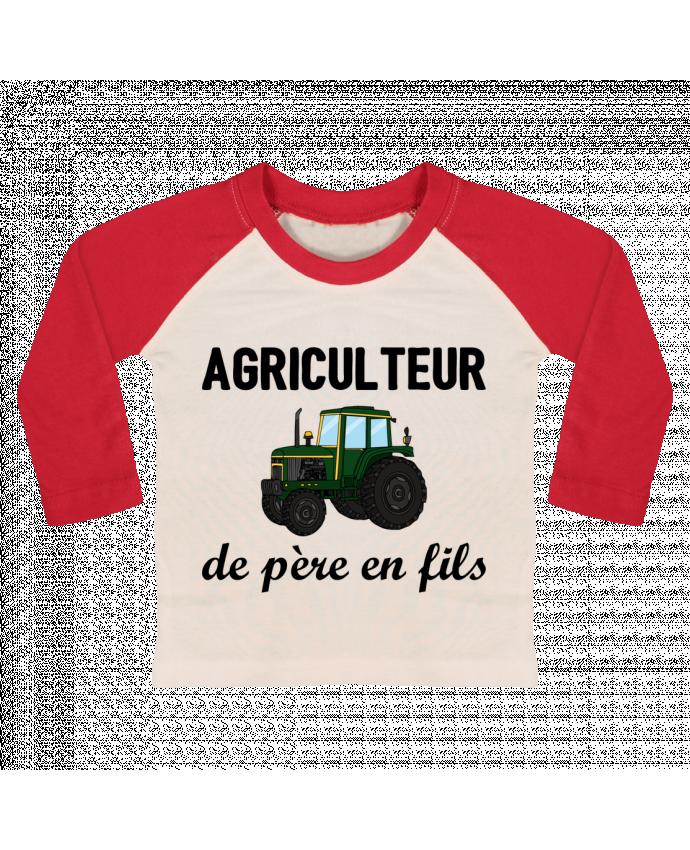 T-shirt Bébé Baseball Manches Longues Agriculteur de père en fils par tunetoo