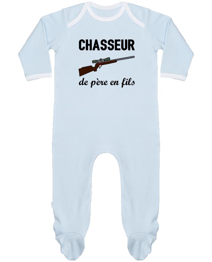 Pyjama Bébé Manches Longues Contrasté Chasseur de père en fils par tunetoo