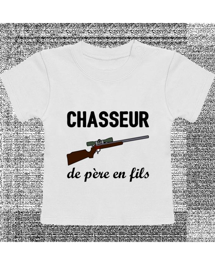 T-Shirt Bébé Manches Courtes Chasseur de père en fils manches courtes du designer tunetoo
