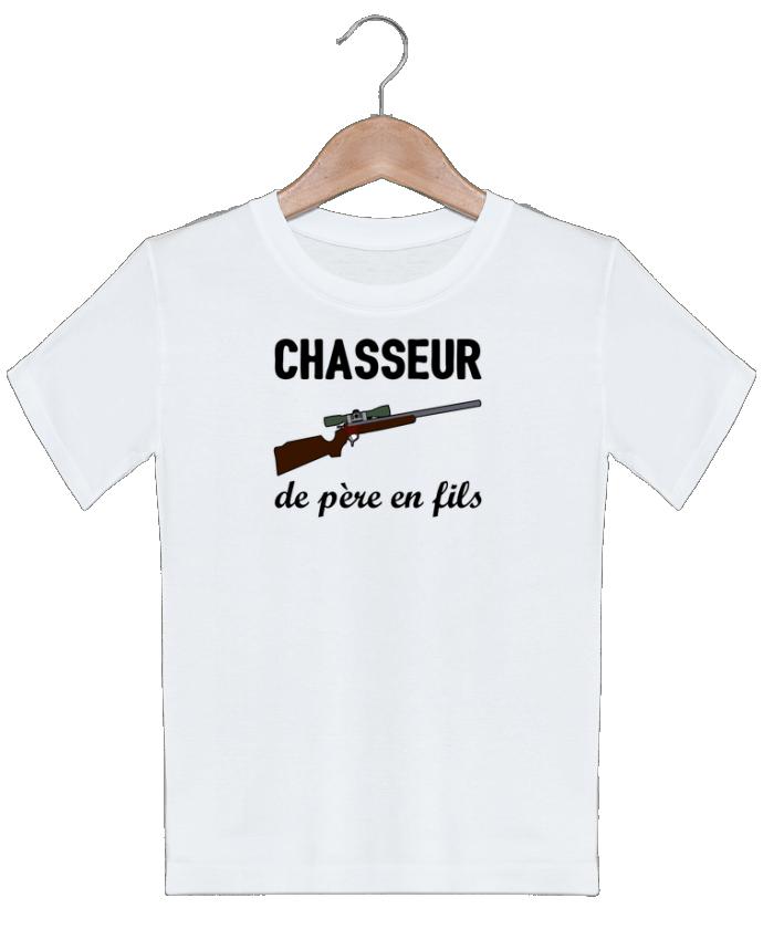 T-shirt garçon motif Chasseur de père en fils tunetoo