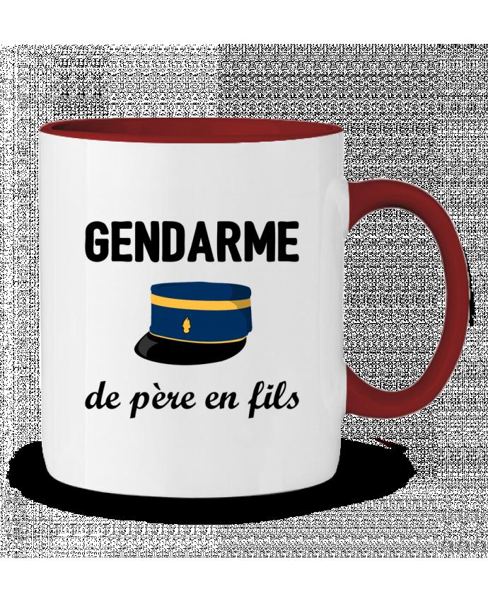 Mug en Céramique Bicolore Gendarme de père en fils tunetoo