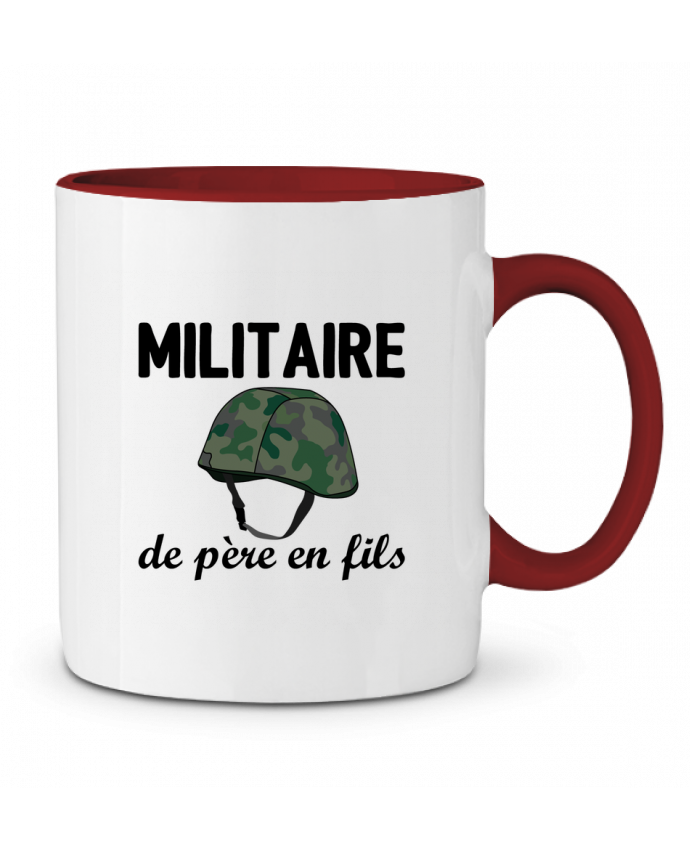 Mug en Céramique Bicolore Militaire de père en fils tunetoo