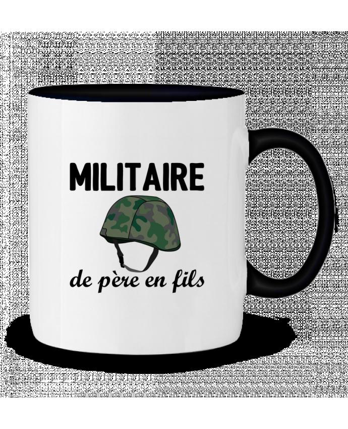 Mug bicolore Militaire de père en fils tunetoo