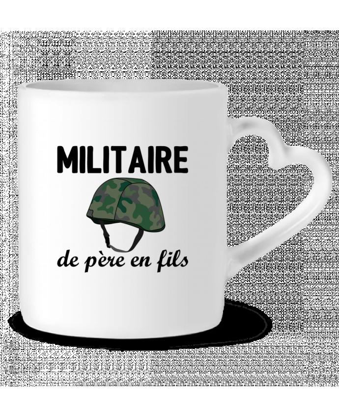 Mug Coeur Militaire de père en fils par tunetoo