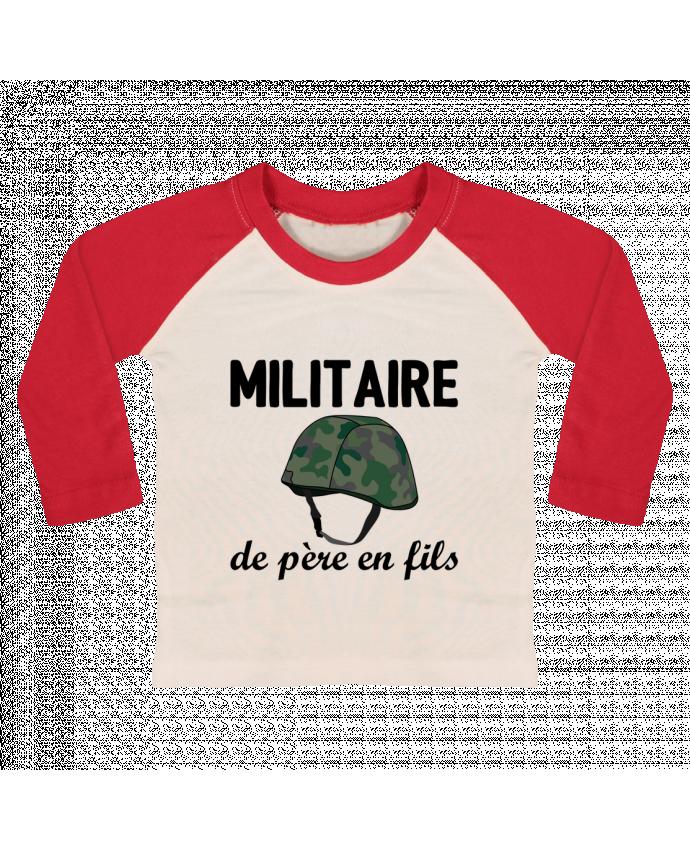 T-shirt Bébé Baseball Manches Longues Militaire de père en fils par tunetoo