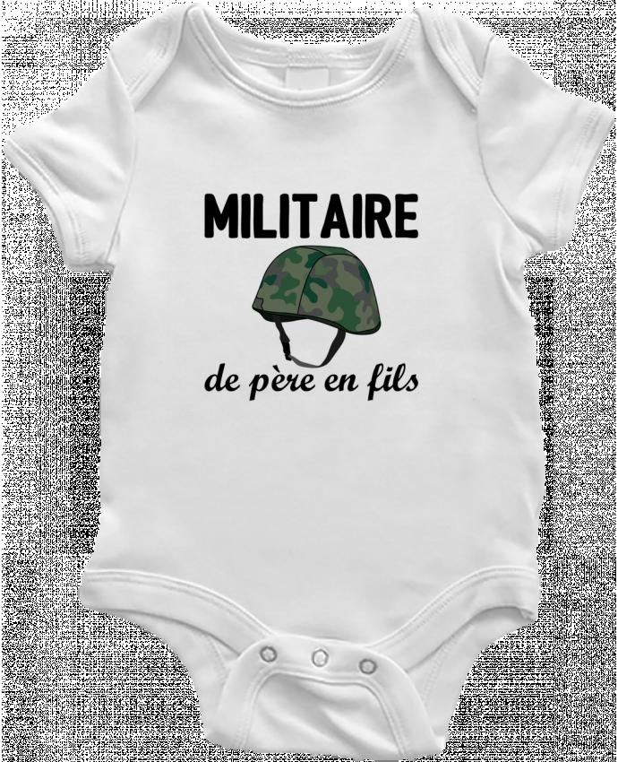 Body Bébé Militaire de père en fils par tunetoo