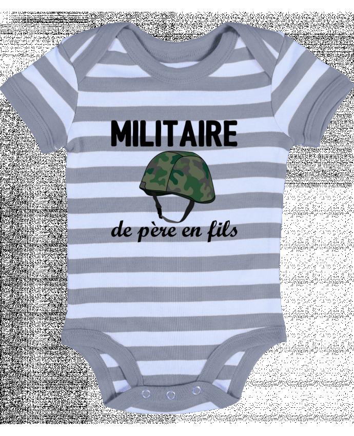 Body Bébé à Rayures Militaire de père en fils - tunetoo