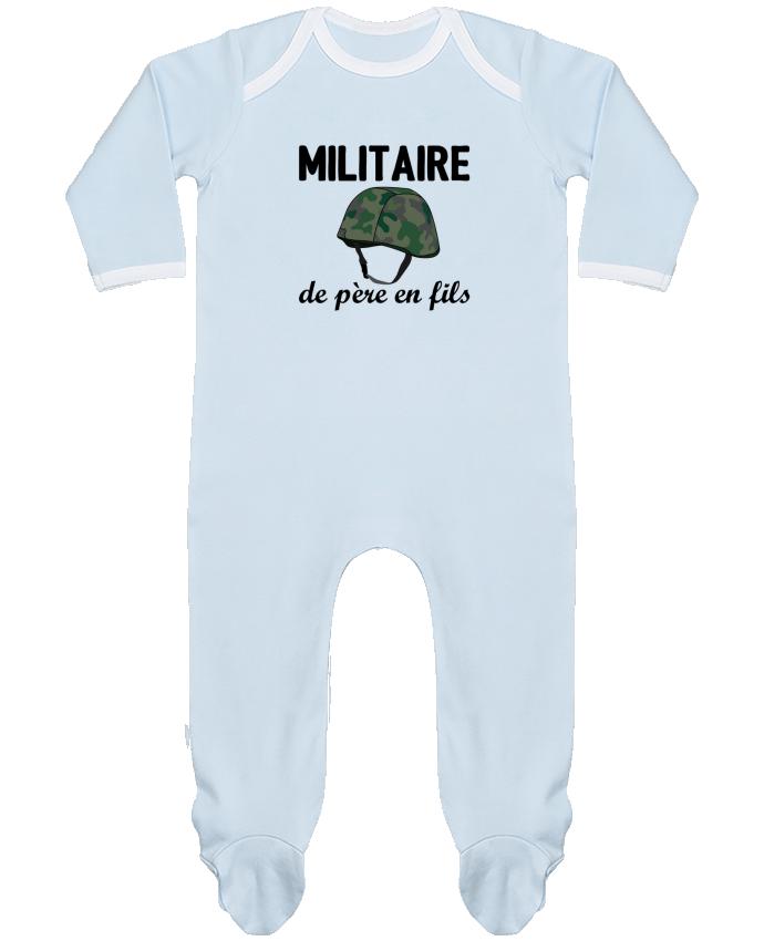Pyjama Bébé Manches Longues Contrasté Militaire de père en fils par tunetoo