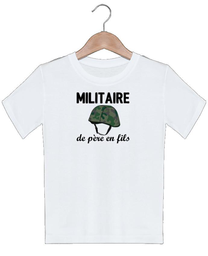 T-shirt garçon motif Militaire de père en fils tunetoo