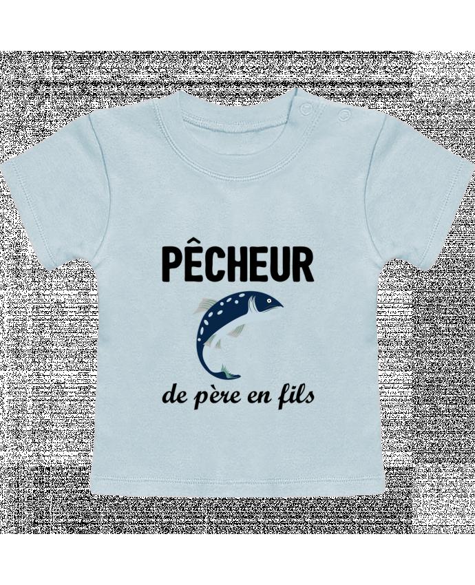 T-Shirt Bébé Manches Courtes Pêcheur de père en fils manches courtes du designer tunetoo